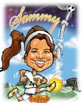 Soccer Team  Gift Caricature