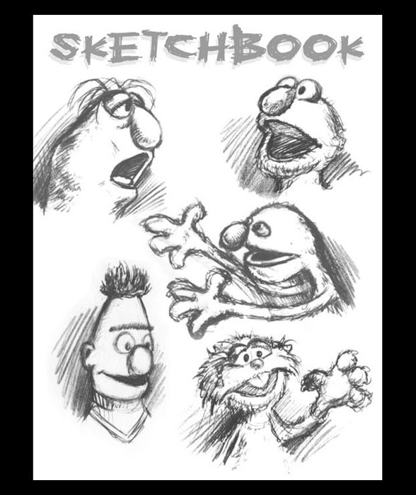 <h3> Sketchbook Page </h3>  Some more sketches I did on the visit to the Henson Studios