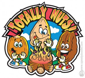 Totally Nuts cartoon logo design