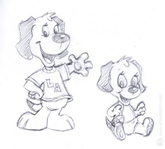 Cartoon Dog & Puppy