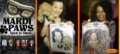MARDI PAWS Fundraiser Charity Event Caricatures